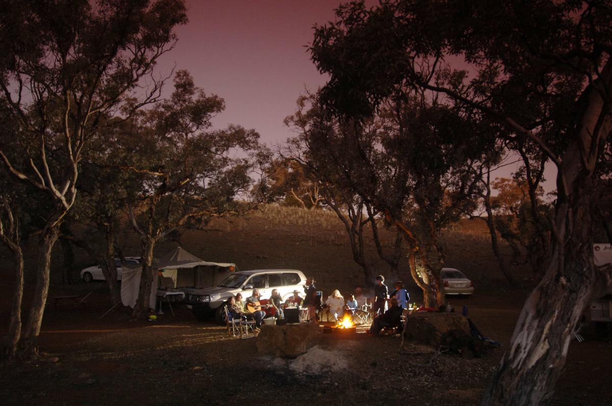 Camping at Skytrek Willow Springs